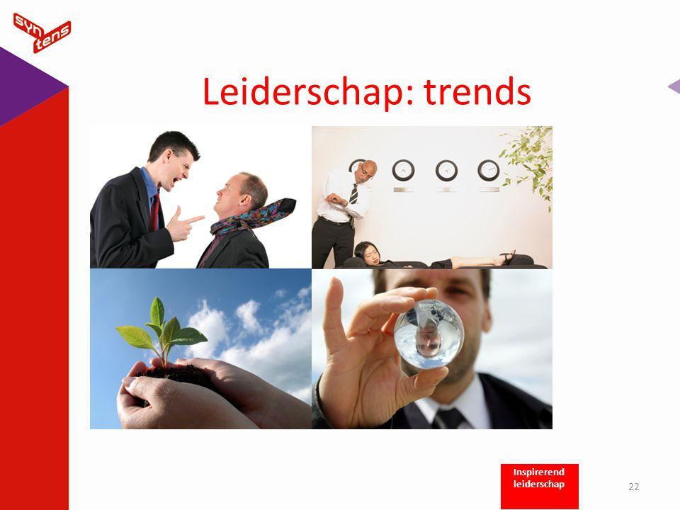 Leiderschap: trends 22 Inspirerend leiderschap