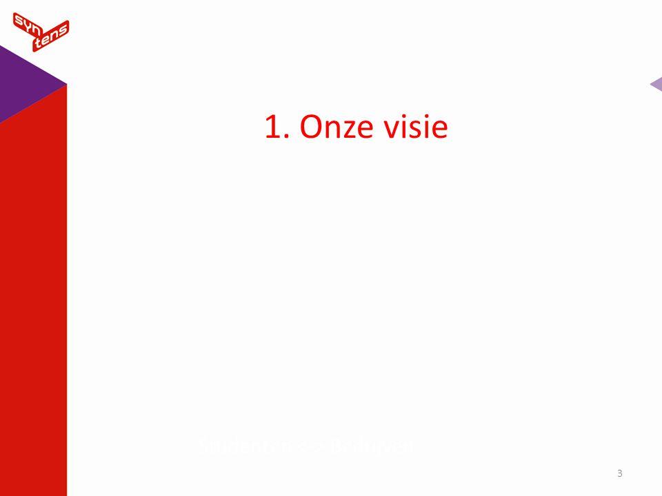 1. Onze visie 3 Studenten Bedrijven