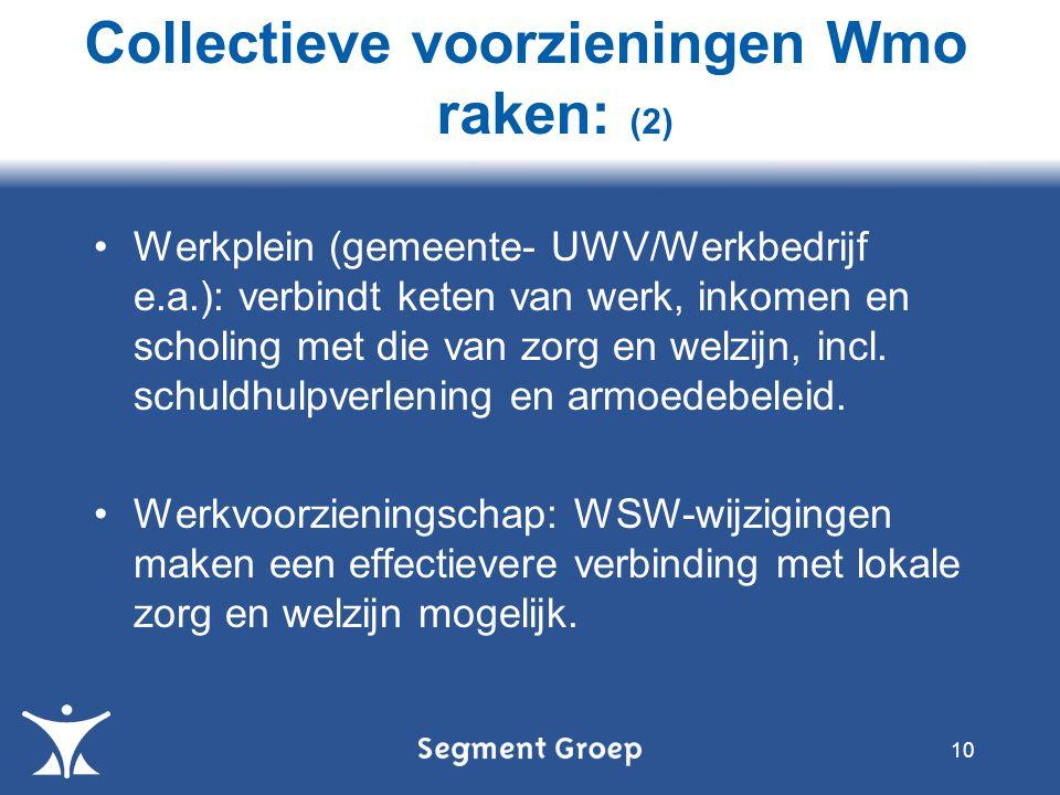Werkplein (gemeente- UWV/Werkbedrijf e.a.): verbindt keten van werk, inkomen en scholing met die van zorg en welzijn, incl.
