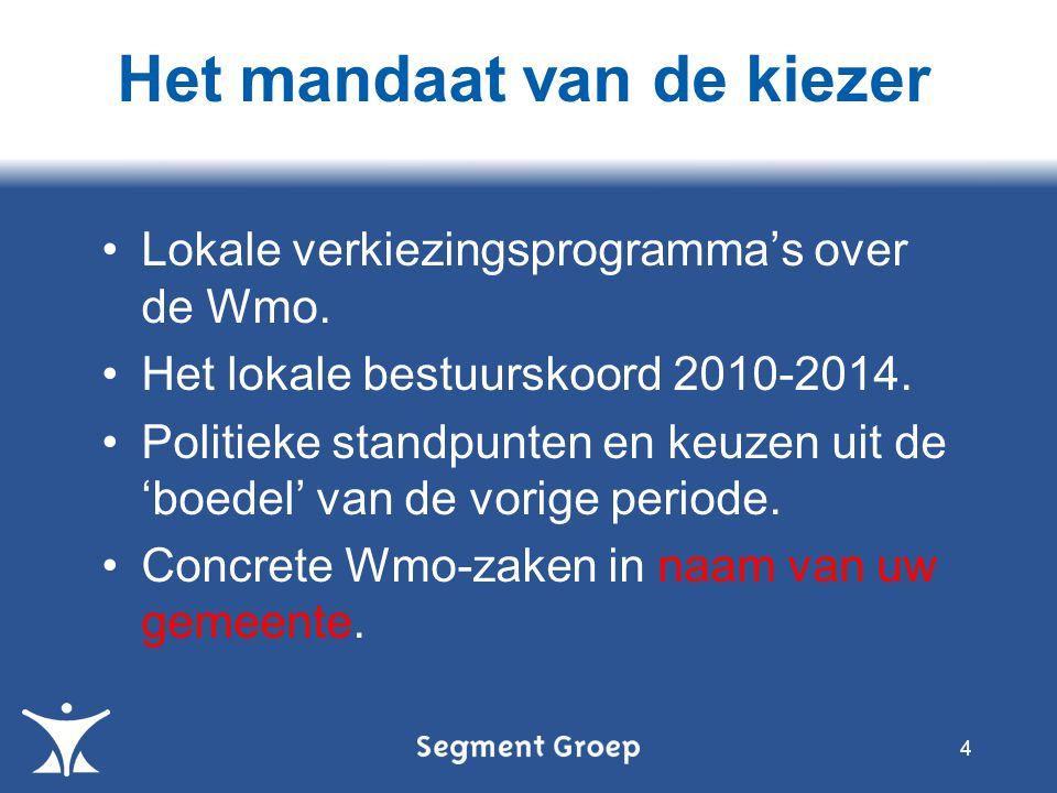 Lokale verkiezingsprogramma's over de Wmo. Het lokale bestuurskoord 2010-2014.