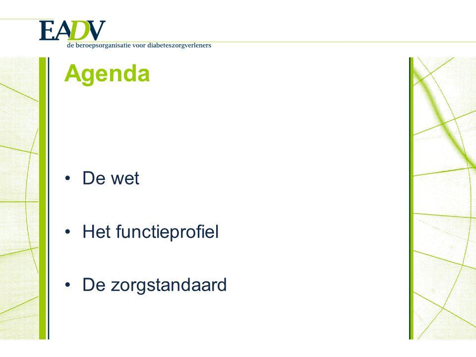 Agenda De wet Het functieprofiel De zorgstandaard