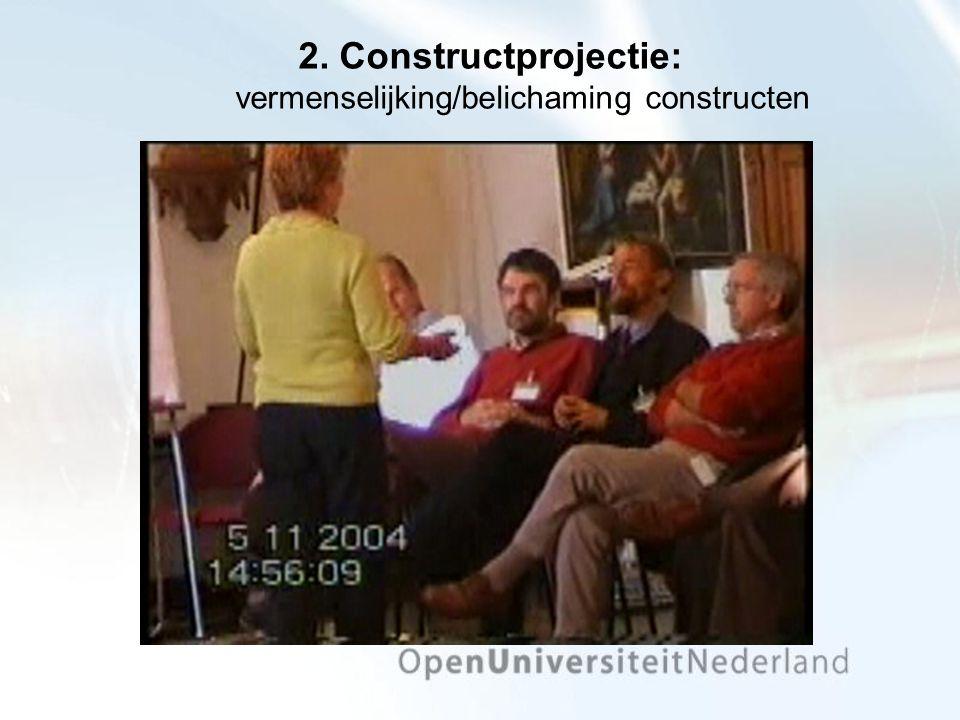 2. Constructprojectie: vermenselijking/belichaming constructen