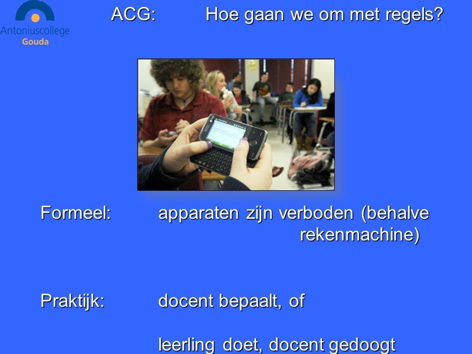 ACG:Hoe gaan we om met regels.