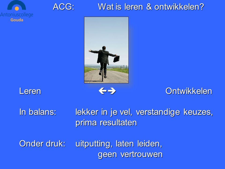 ACG:Wat is leren & ontwikkelen.