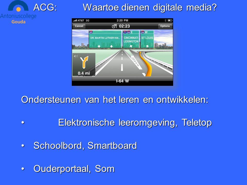 ACG:Waartoe dienen digitale media.