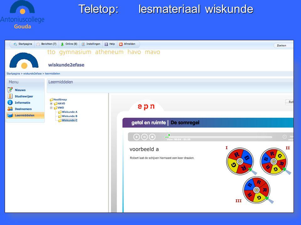 Teletop:lesmateriaal wiskunde