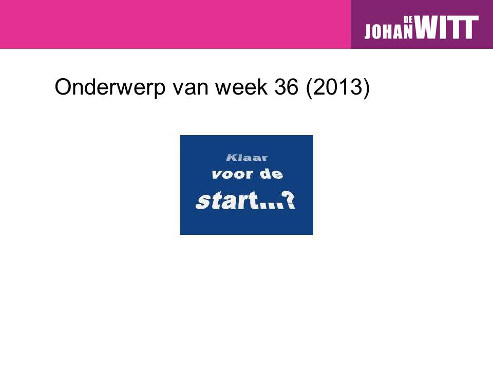 Onderwerp van week 36 (2013)