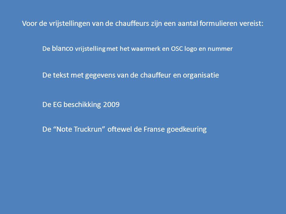 De blanco brief heeft een aantal kenmerken: Het woord Truckrun is zilver - kleurig en wordt bij kopie zwart.