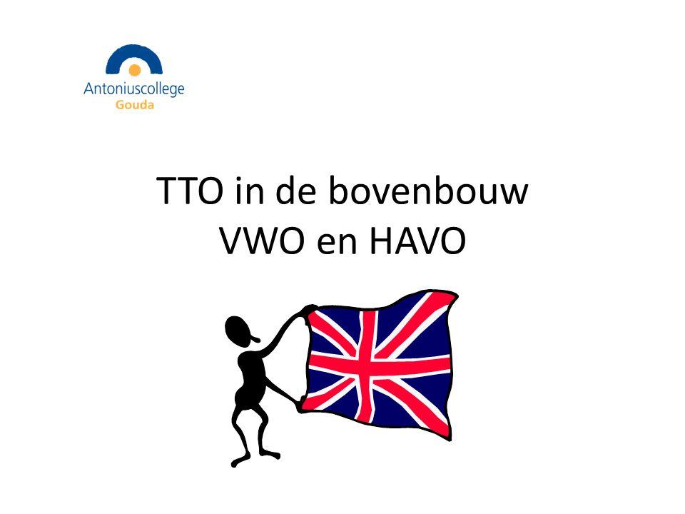 TTO in de bovenbouw VWO en HAVO