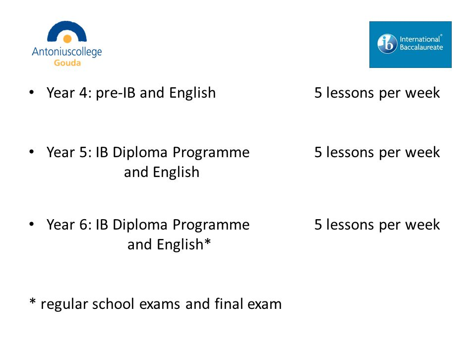 Language A: Language and Literature Content: – Analysing language – Literature – Essay writing – Speaking Examination: – Written Tasks – Oral Tasks