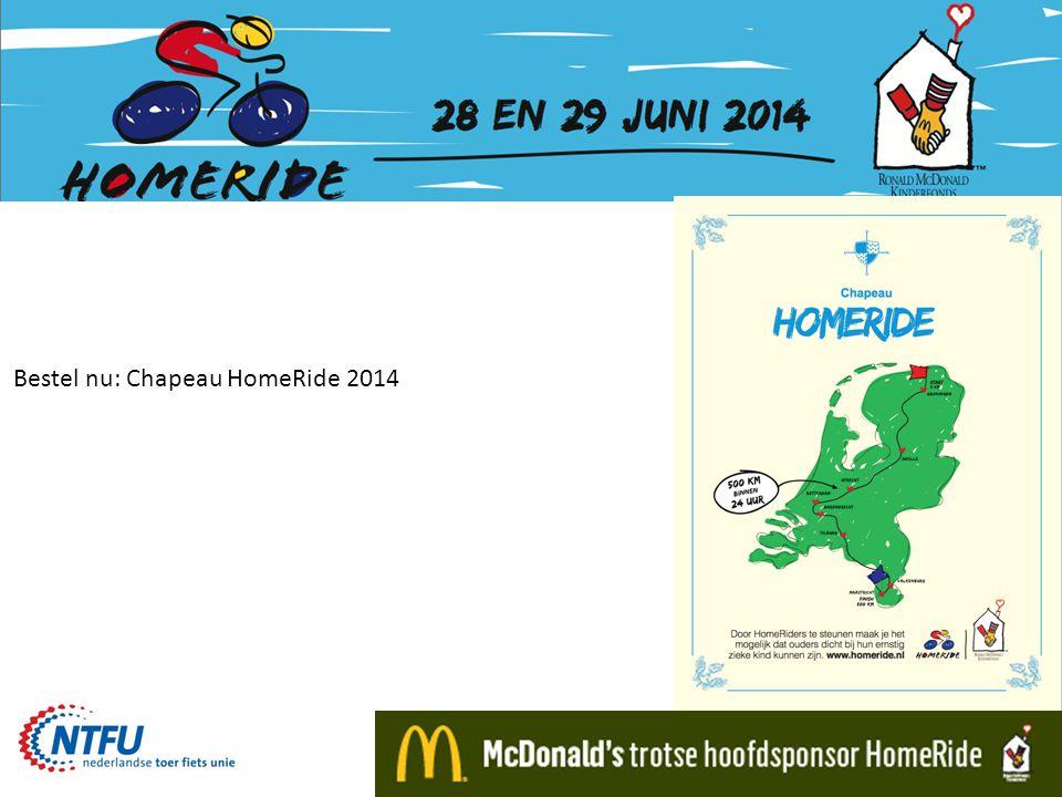 Bestel nu: Chapeau HomeRide 2014
