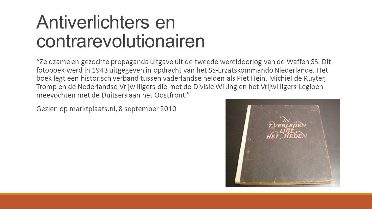 Antiverlichters en contrarevolutionairen Zeldzame en gezochte propaganda uitgave uit de tweede wereldoorlog van de Waffen SS.