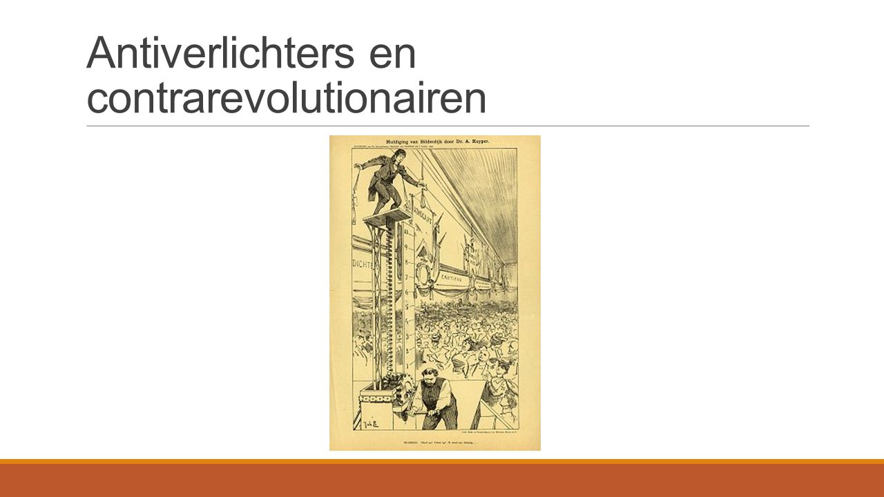 Antiverlichters en contrarevolutionairen