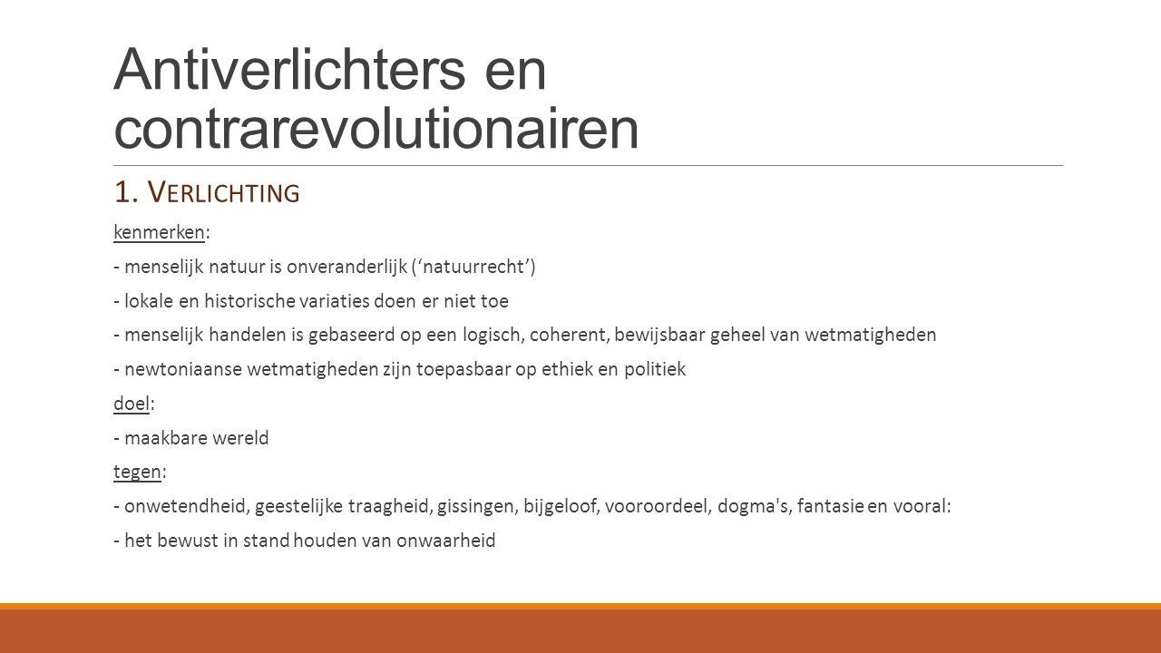 Antiverlichters en contrarevolutionairen Casus: Willem Bilderdijk Bilderdijk door Moritz Calisch (ca.