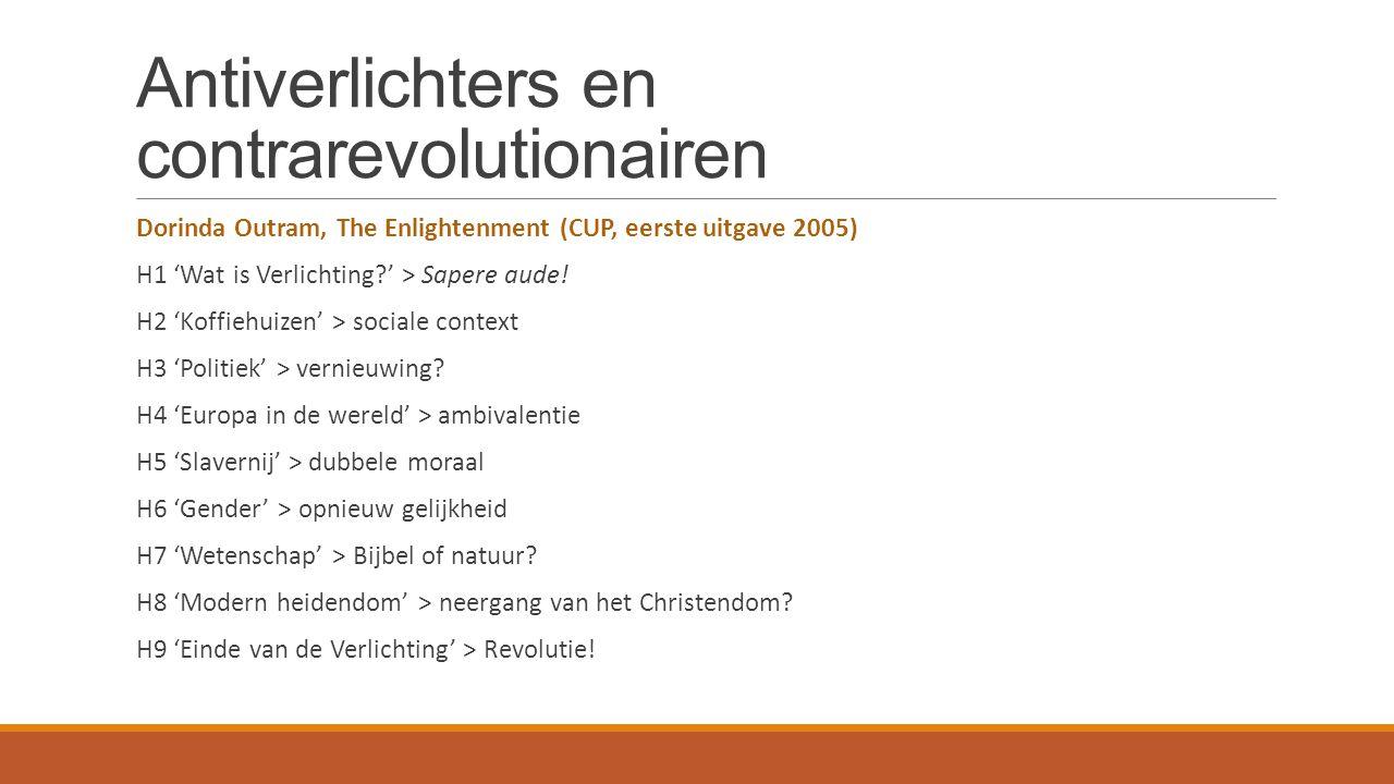 Antiverlichters en contrarevolutionairen 2.