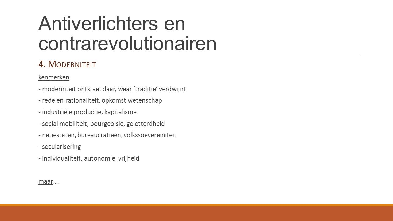 Antiverlichters en contrarevolutionairen 5.