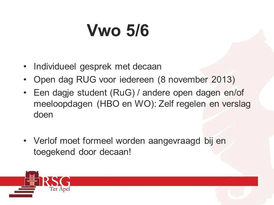 SUCCES !!!! Decaan: mevr. Nijenbanning decaanhavovwo@rsgterapel.nl