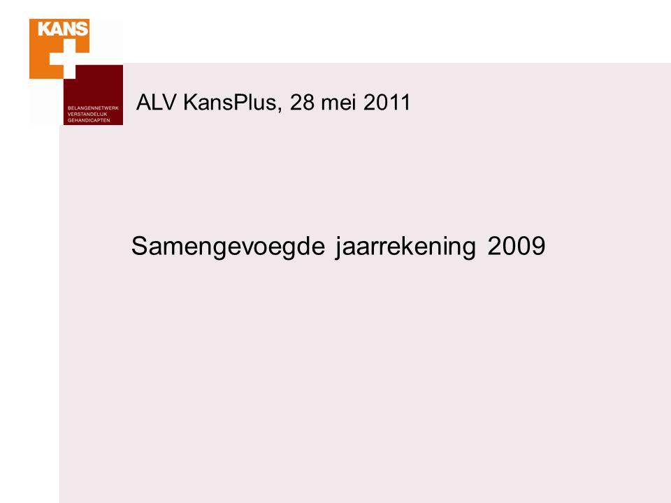 ALV KansPlus, 28 mei 2011 Samengevoegde jaarrekening 2009