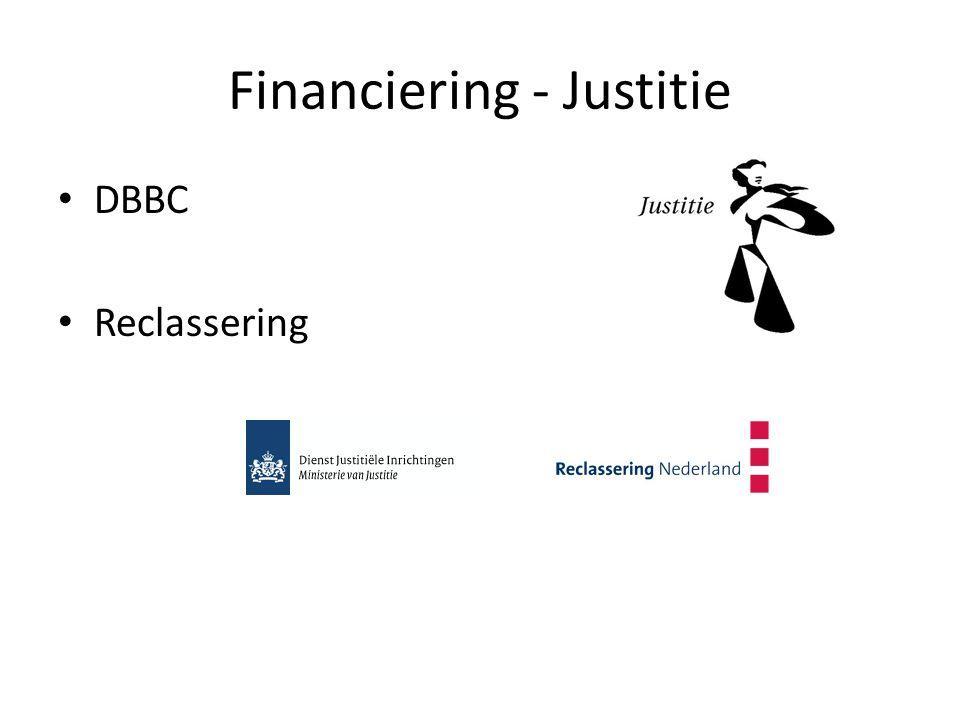 Financiering - Justitie DBBC Reclassering