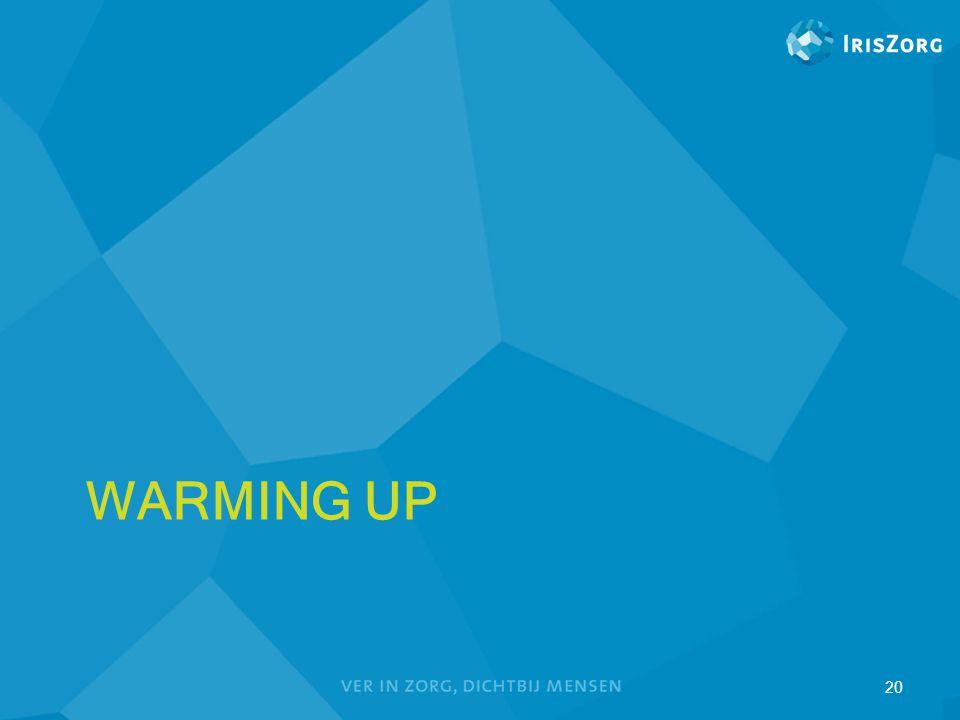 WARMING UP 20