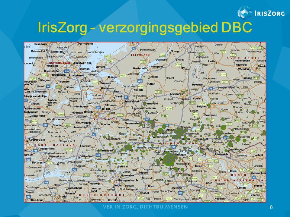 IrisZorg – verzorgingsgebied DBC 8