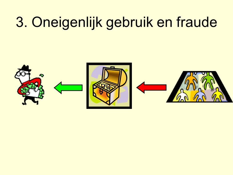 3. Oneigenlijk gebruik en fraude