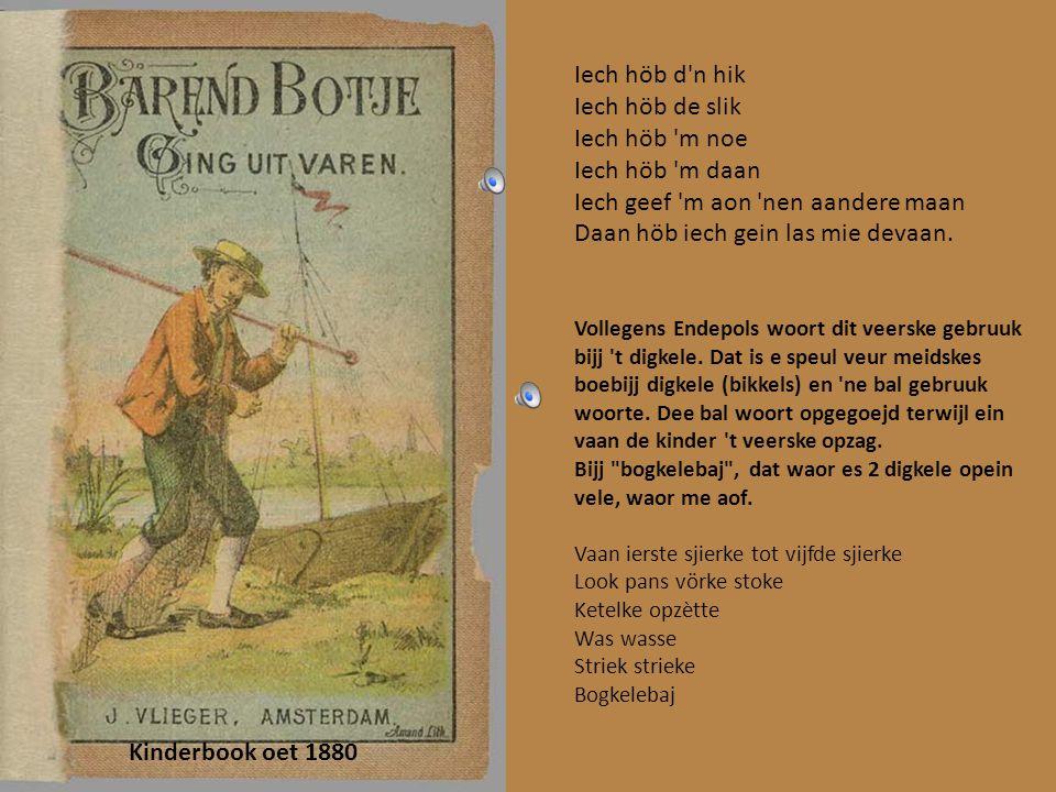 Kinderbook oet 1870 Krinkspäölselke veur kleinekes. Bijj