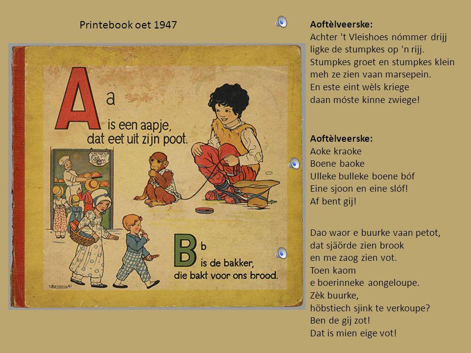 Oetgegeve umstreeks 1880 Dit is n hiel eigenaordig leedsje: Pimelo, pammelo, pom pom pimena, padenamino konkedo lavaja.
