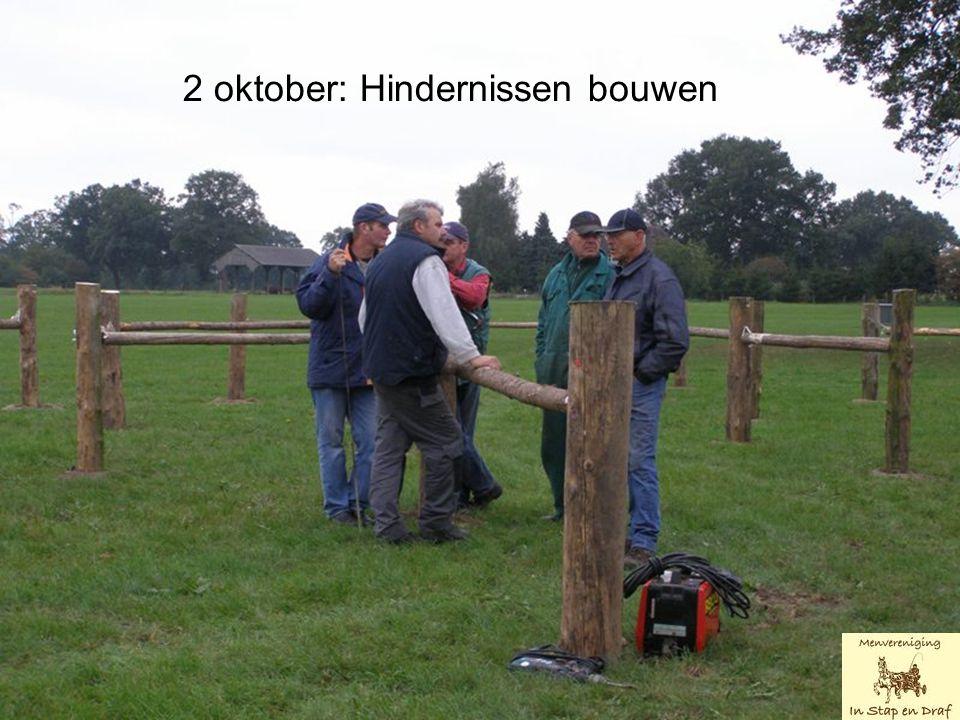 2 oktober: Hindernissen bouwen