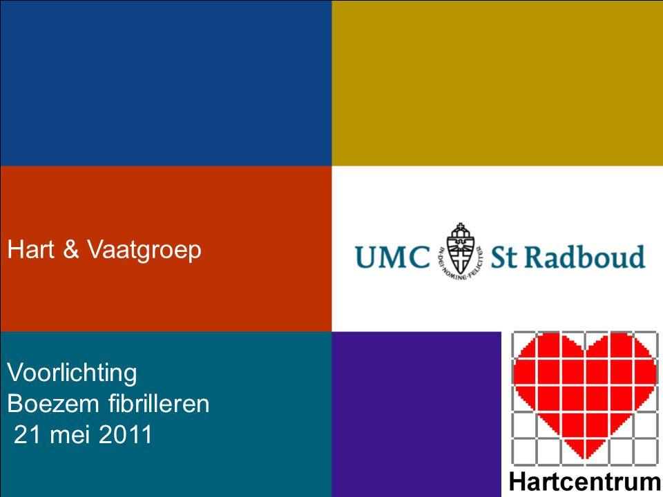 Hart & Vaatgroep Voorlichting Boezem fibrilleren 21 mei 2011