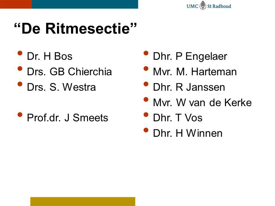 De Ritmesectie Dr. H Bos Drs. GB Chierchia Drs.