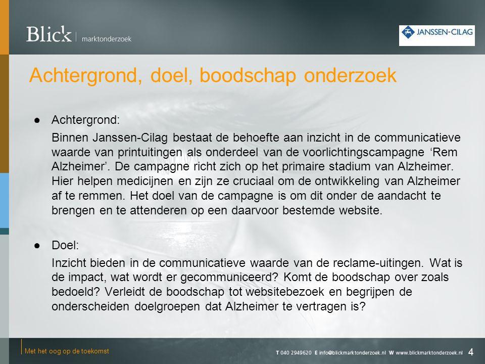 Overwegingen 25 Met het oog op de toekomst De uitkomsten van dit onderzoek tonen aan dat de gestelde doelstellingen door de campagne goed gerealiseerd worden.