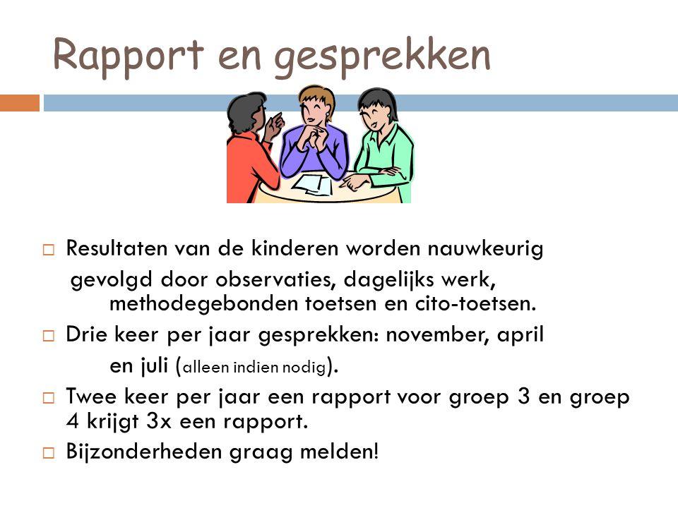 Vervolg…  Huiswerk  (thuisleesbladen) groep 3  (spelling op schoolwebsite) groep 4  Trakteren  Vertrouwenspersonen voor de kinderen: Nico Niersman en Esther Uittenhout