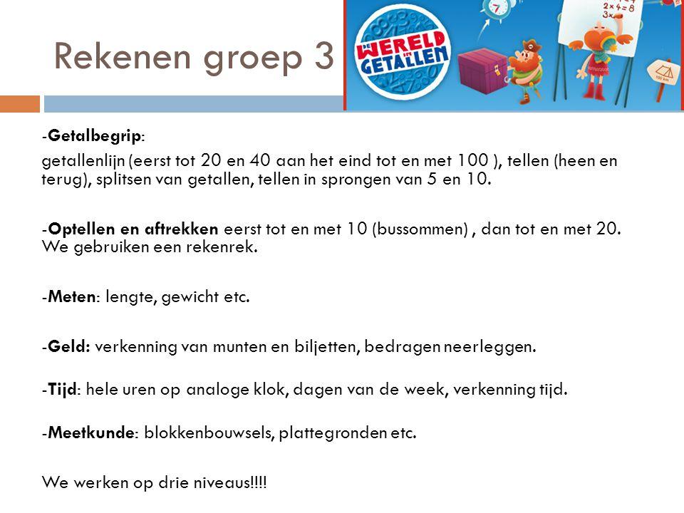 Rekenen groep 4  Methode De wereld in getallen .