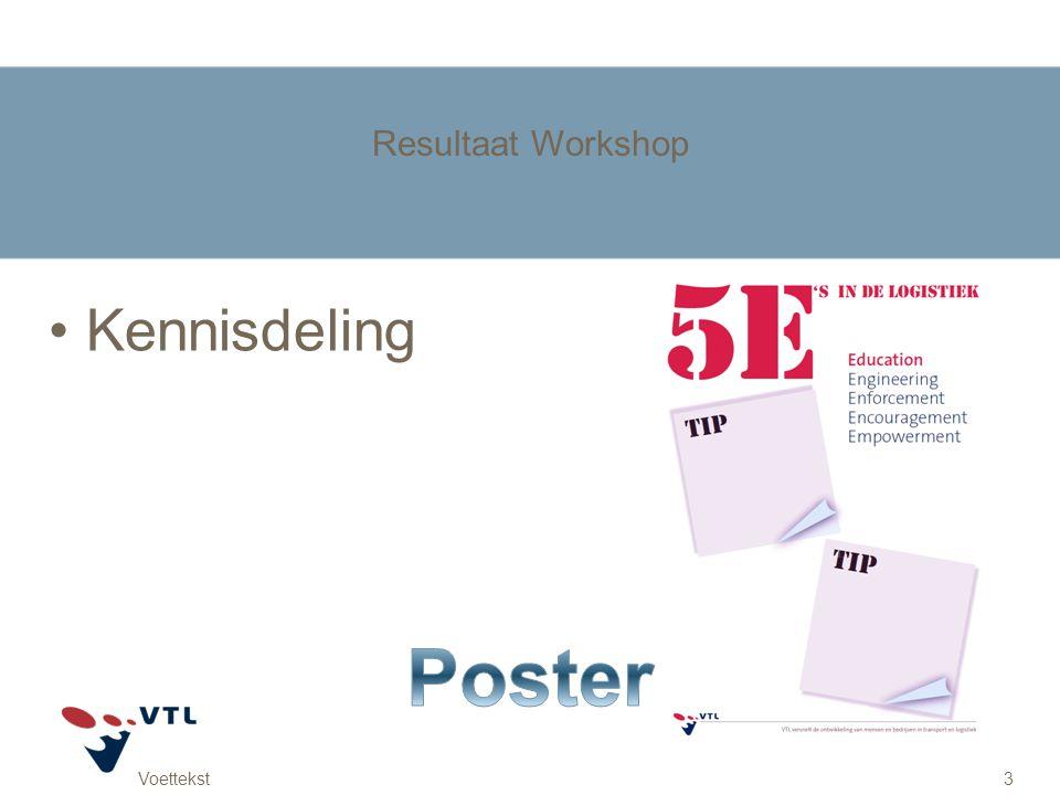 Voettekst3 Resultaat Workshop Kennisdeling