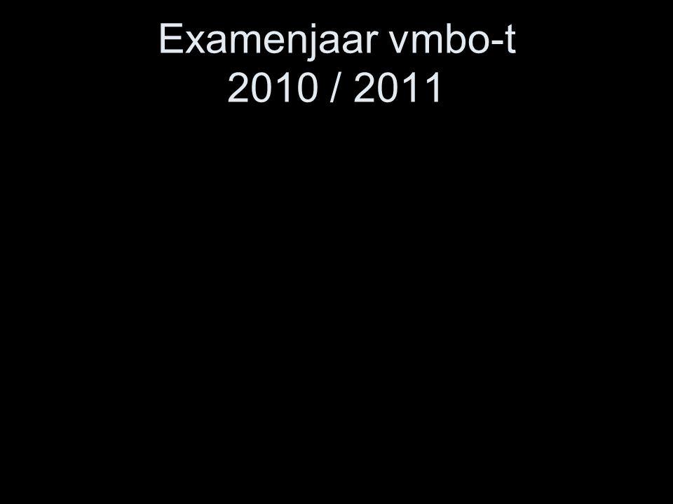 Examenjaar vmbo-t 2010 / 2011