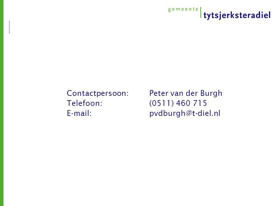 Contactpersoon: Peter van der Burgh Telefoon: (0511) 460 715 E-mail: pvdburgh@t-diel.nl