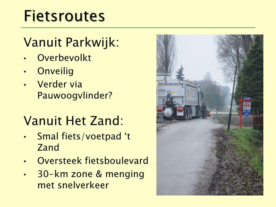 Fietsroutes Vanuit Parkwijk: Overbevolkt Onveilig Verder via Pauwoogvlinder.