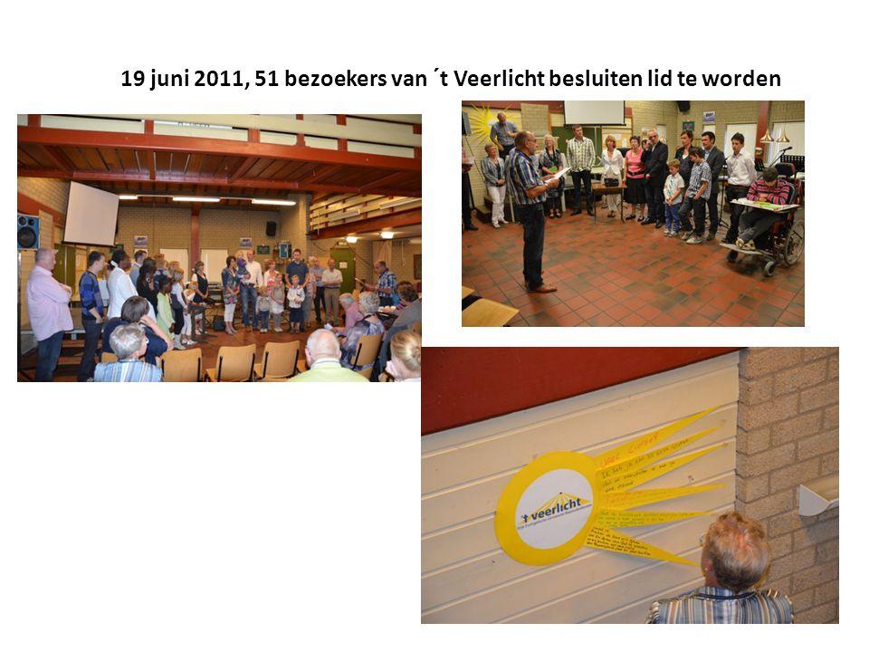 19 juni 2011, 51 bezoekers van ´t Veerlicht besluiten lid te worden