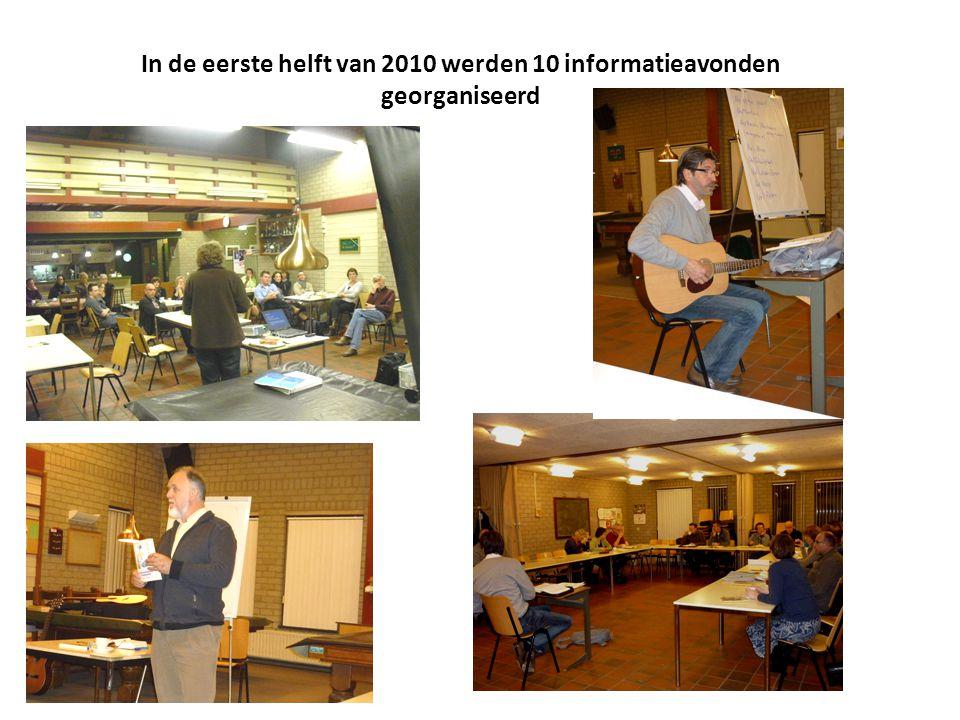 In de eerste helft van 2010 werden 10 informatieavonden georganiseerd