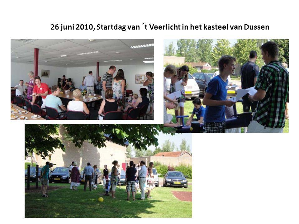 26 juni 2010, Startdag van ´t Veerlicht in het kasteel van Dussen