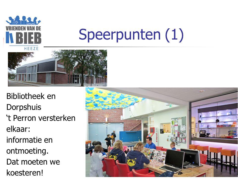 Speerpunten (1) Bibliotheek en Dorpshuis 't Perron versterken elkaar: informatie en ontmoeting.