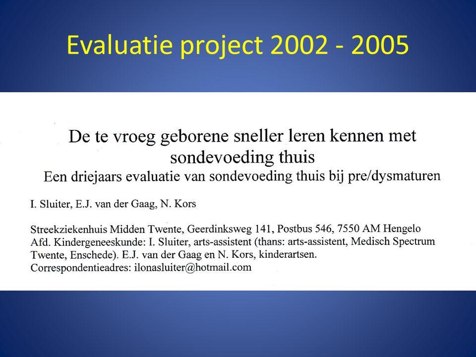 Evaluatie project 2002 - 2005