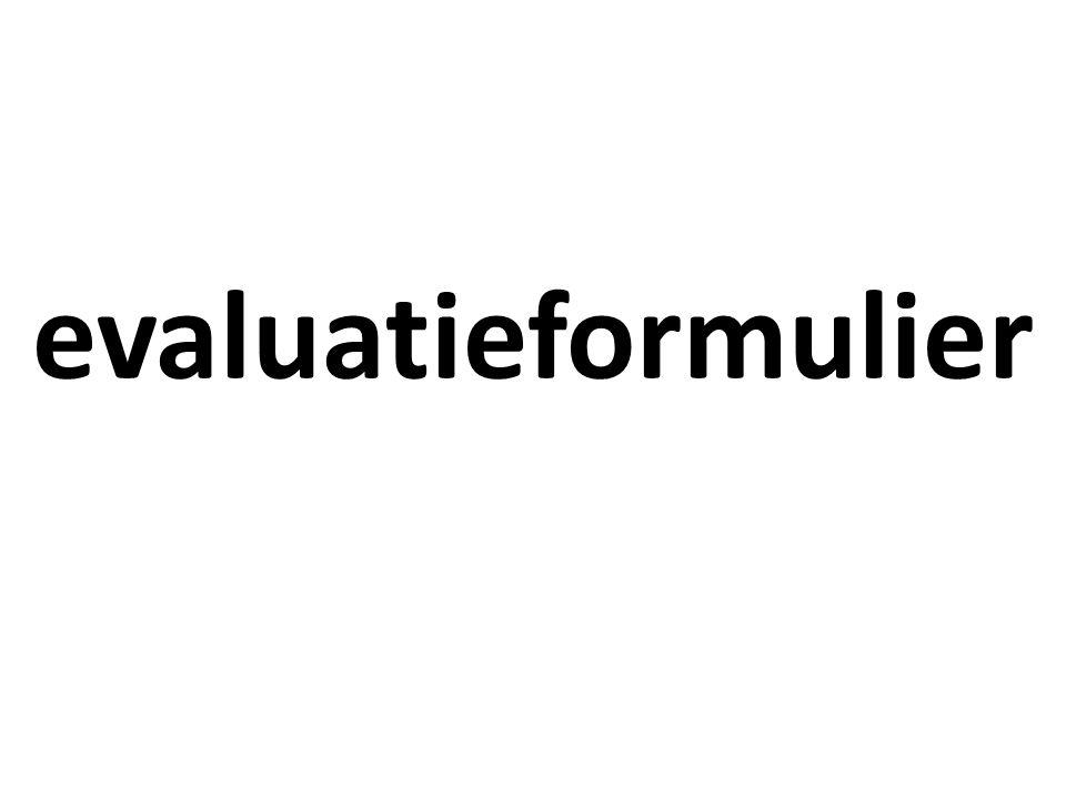evaluatieformulier