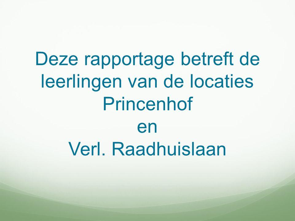 Deze rapportage betreft de leerlingen van de locaties Princenhof en Verl. Raadhuislaan