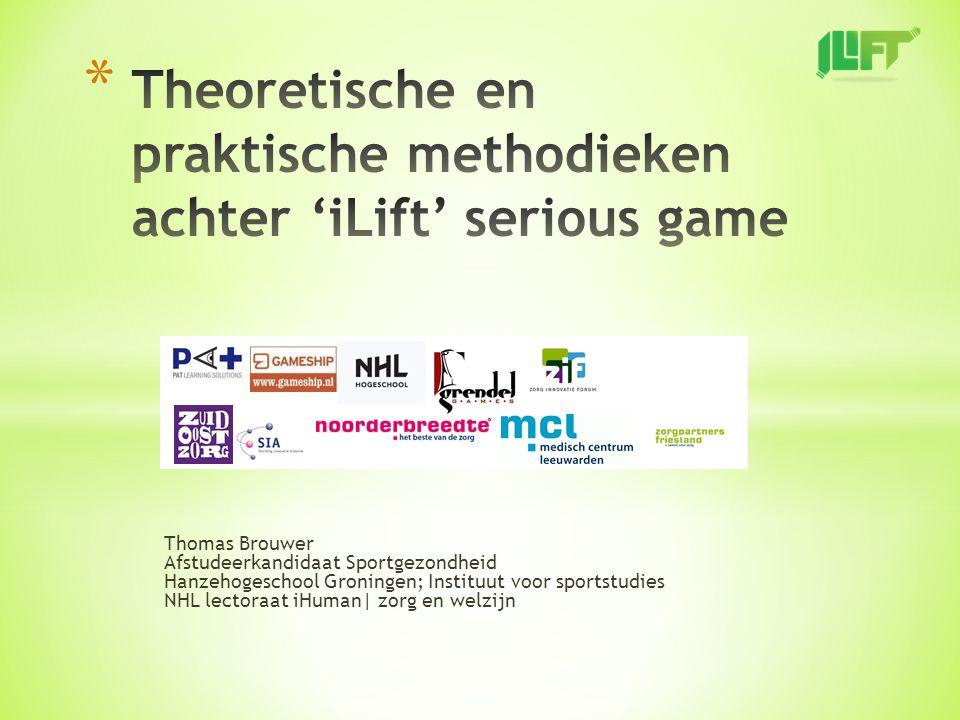- Introductie - Rol binnen iLift - Theorieën achter de iLift Serious Game - Link tussen theoretische modellen en de serious game - Conclusie - Vragen en discussie