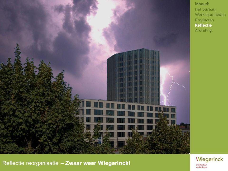 Reflectie reorganisatie – Zwaar weer Wiegerinck.