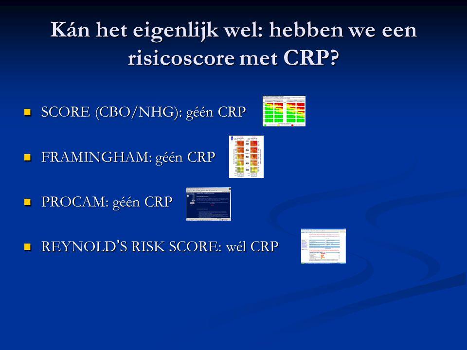 Kán het eigenlijk wel: hebben we een risicoscore met CRP.