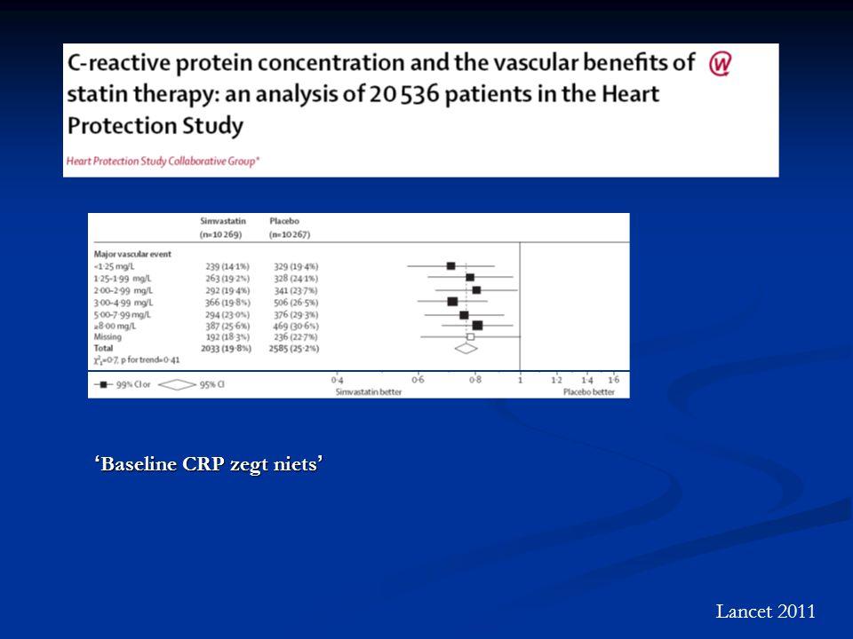 Lancet 2011 ' Baseline CRP zegt niets '