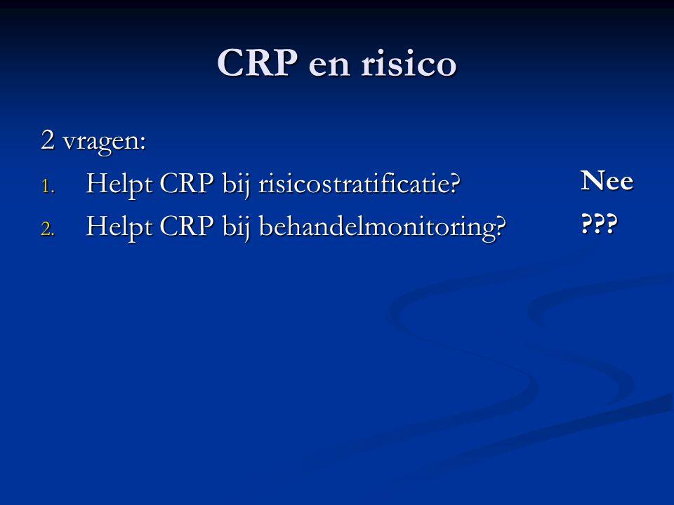 CRP en risico 2 vragen: 1.Helpt CRP bij risicostratificatie.